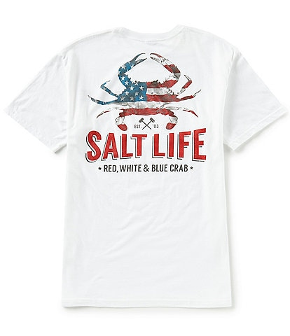 Salt Life American Crab Short-Sleeve Pocket Tee