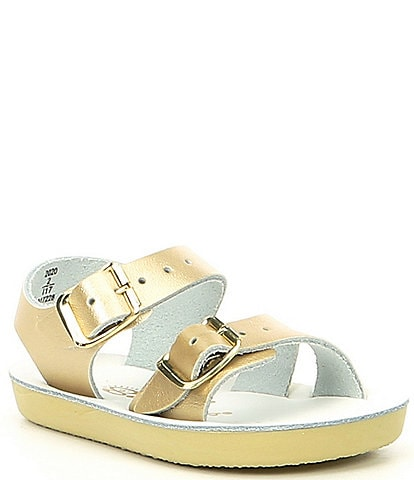 Salt Water by Hoy Girls' Sea Wee Sandal Crib Shoe