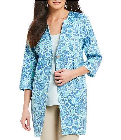 Sigrid Olsen Signature Island Floral Print Topper Jacket
