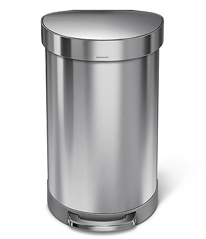 simplehuman 45-Liter Semi-Round Step Trash Can