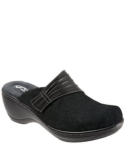 SoftWalk Mason Suede and Leather Clogs