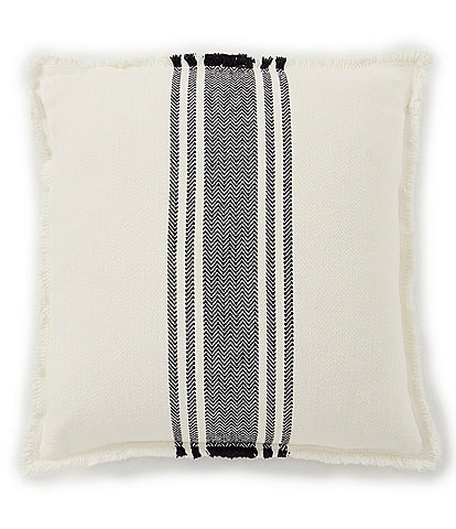 Southern Living Cozy Winter Collection Striped Feedsack Square Pillow