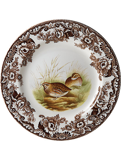 Spode Festive Fall Collection Woodland Quail Dinner Plate