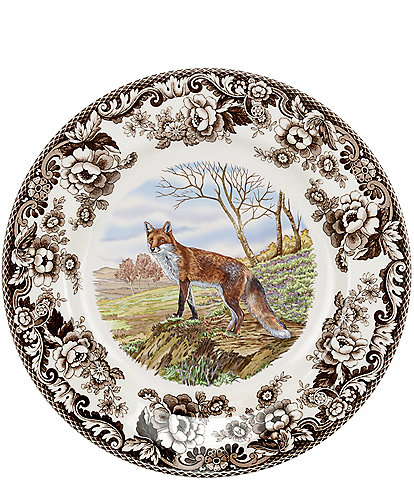 Spode Festive Fall Collection Woodland Red Fox Dinner Plate
