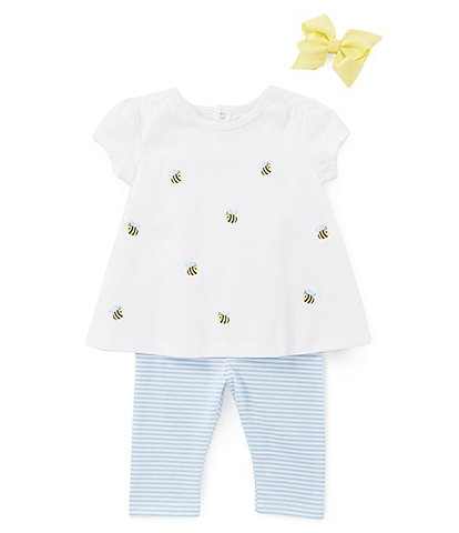 Starting Out Baby Girls 3-24 Months Bee Top & Leggings Set