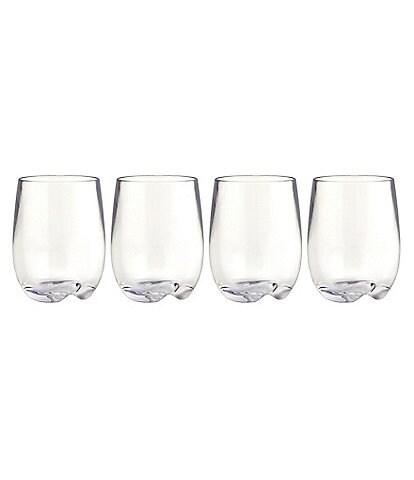 Strahl Design+Contemporary Osteria Stemless Wine Glasses, Set of 4
