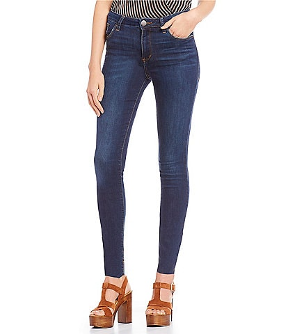 STS Blue Ellie High Rise Raw Edge Hem Ankle Skinny Jeans