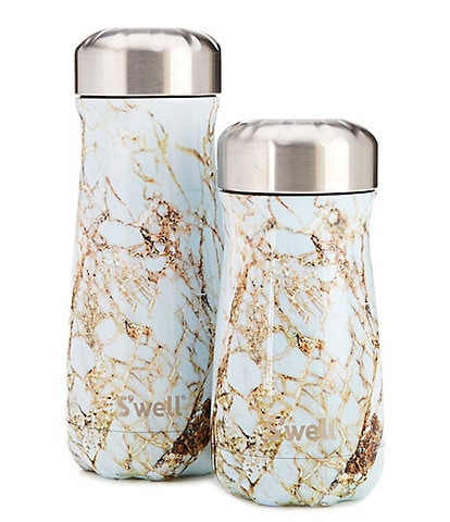 S'well Elements Collection Calcatta Gold Stainless Steel Insulated Traveler Bottle