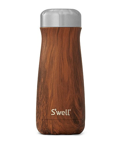 S'well Wood Collection Teakwood Insulated Stainless Steel Traveler Bottle