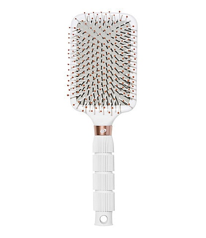 T3 Smooth White & Rose Gold Paddle Brush