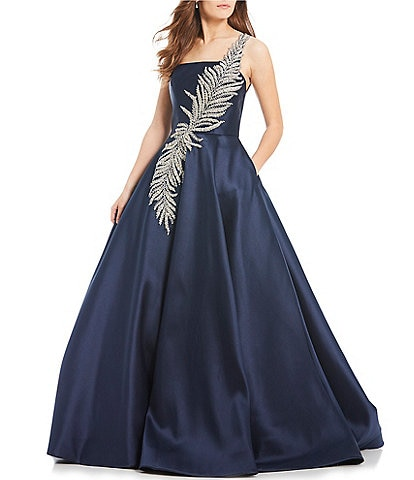 Terani Couture One Shoulder Beaded Ball Gown