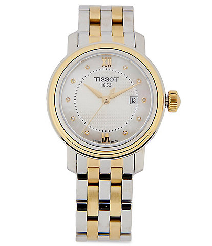 Tissot Bridgeport Analog & Date Bracelet Watch
