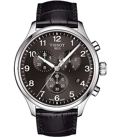 Tissot Chrono XL Classic Black Leather Watch