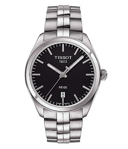 Tissot PR 100 Analog & Date Bracelet Watch