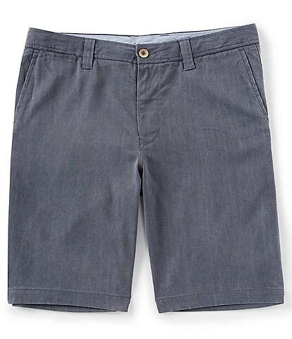 Tommy Bahama Havana Herringbone Flat-Front 10 1/2#double; Inseam Shorts