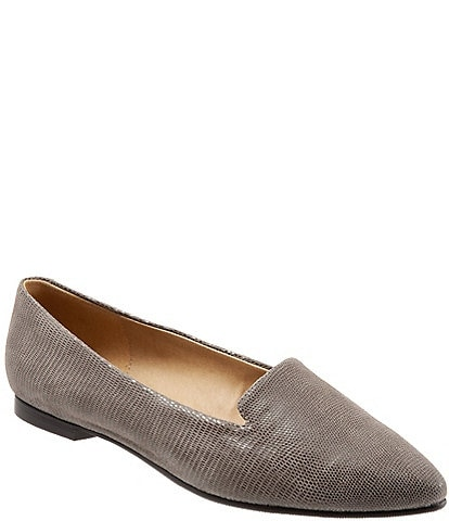 Trotters Harlow Lizard Patent Suede Leather Slip On