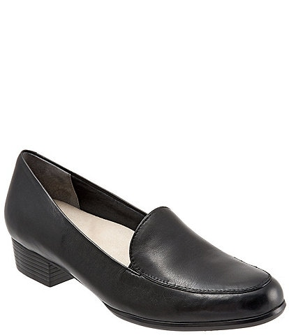 Trotters Monarch Slip-On Block Heel Loafers