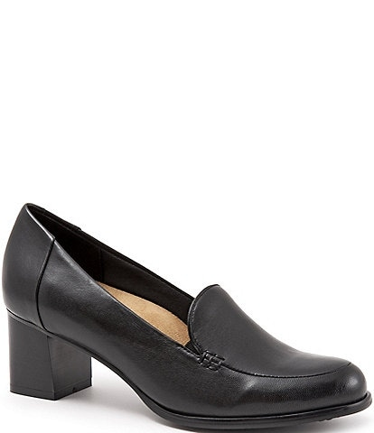 Trotters Quincy Leather Loafer Pumps