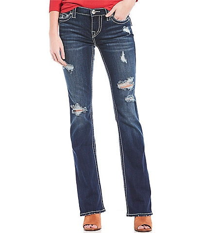 True Religion Becca Distressed Bootcut Jeans