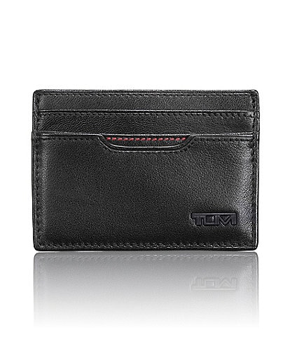 Tumi Contrast Stitch ID Lock Money Clip Card Case