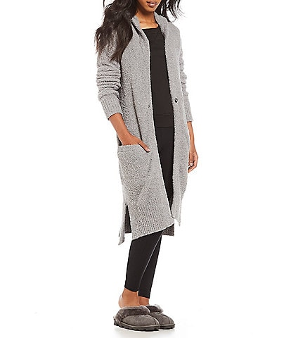 UGG® Judith Sweater-Knit Hooded Lounge Cardigan