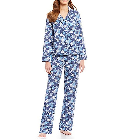 VAN WINKLE & CO. Frosty Pines Print Portuguese Flannel Pajamas