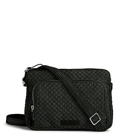 Vera Bradley Denim Iconic RFID Little Hipster Cross-Body Bag