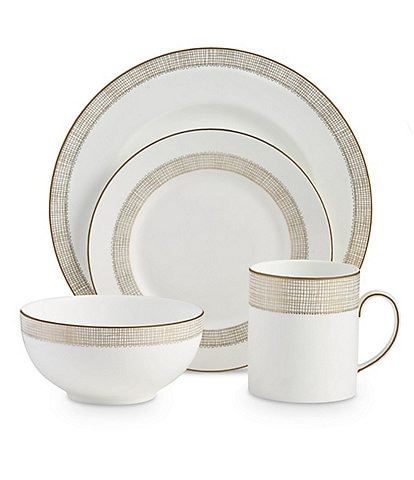 Vera Wang by Wedgwood Gilded Weave 4-Piece Setting