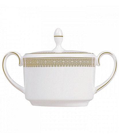 Vera Wang by Wedgwood Lace Gold Bone China Sugar Bowl with Lid