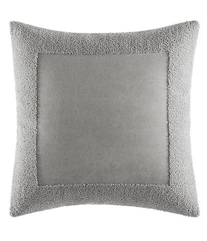 Vera Wang Transparent Leaves Terry Border Pillow