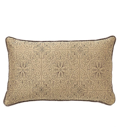 Veratex Bentley Medallion-Embroidered Satin Boudoir Pillow