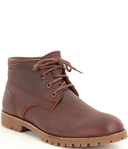 Wolverine Cort Men's Leather Waterproof Lace-Up Short Chukka Boots