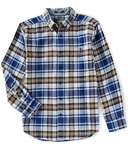 Woolrich Trout Run Flannel Plaid Long-Sleeve Woven Shirt