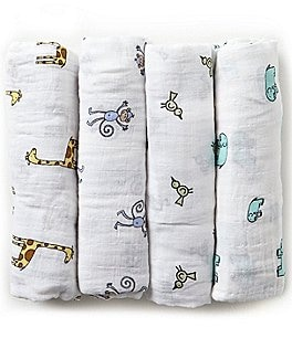 Image of Aden + Anais 4-Pack Muslin Swaddle Blankets
