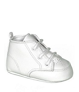 Image of Baby Deer White High-Top Crib Shoes