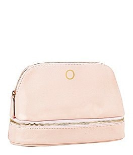 Image of Cathy's Concepts Embossed Blush Pink Vegan Leather Travel Case
