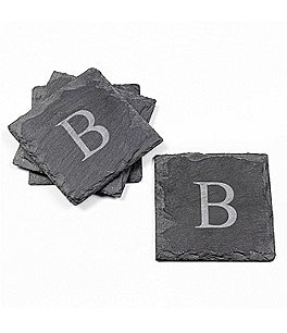 Image of Cathy's Concepts Initial Slate Coasters, Set of 4
