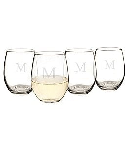 Image of Cathy's Concepts Personalized 21-oz. Stemless Wine Glass Set of 4