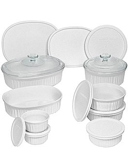 Image of CorningWare French White 18-Piece Bakeware Set