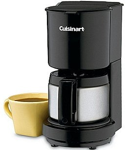 Image of Cuisinart 4-Cup Black Coffeemaker with Stainless Steel Carafe