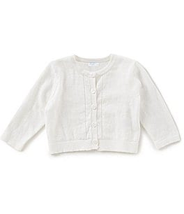 Image of Edgehill Collection Baby Girls Newborn-24 Months Button-Front Cardigan Sweater