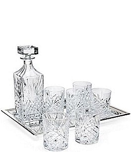 Image of Godinger Dublin Diamond-Cut Crystal 8-Piece Whiskey Set