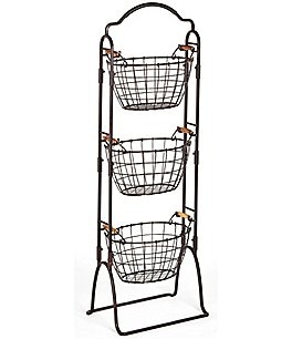 Image of Gourmet Basics by Mikasa Harbor 3-Tier Wire Market Basket
