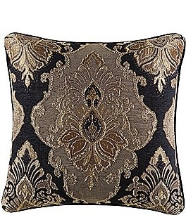 Image of J. Queen New York Bradshaw Damask Chenille Square Pillow