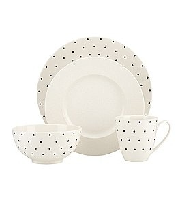 Image of kate spade new york Larabee Road Dotted Stoneware 4-Piece Place Setting
