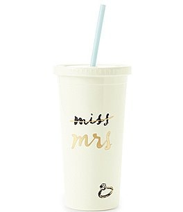 Image of kate spade new york Miss to Mrs. Insulated Tumbler with Straw