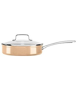 Image of KitchenAid Toffee Delight Hard Anodized Nonstick Sauté with Glass Lid