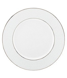 Image of Lenox Artemis Floral Platinum Bone China Dinner Plate