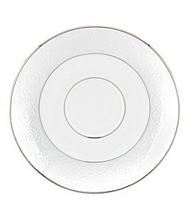 Image of Lenox Artemis Floral Platinum Bone China Saucer