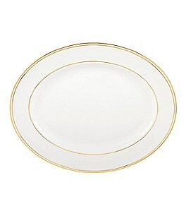 Image of Lenox Federal Gold Bone China Oval Platter